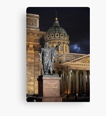 monument military leader Canvas Print