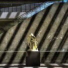 Sculpture and Escalator by MClementReilly