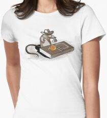 Indiana Mouse Womens Fitted T-Shirt