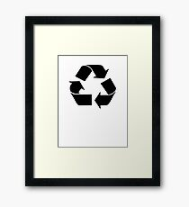 RECYCLE black Framed Print