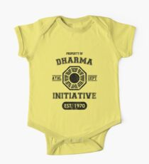 Dharma Initiative athletic department (Black ver.) One Piece - Short Sleeve