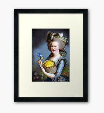 Allegory : David Cameron as Madame Déficit Framed Print