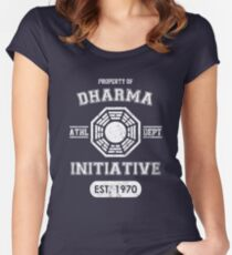 Dharma Initiative athletic department (Light ver.) Women's Fitted Scoop T-Shirt