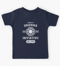 Dharma Initiative athletic department (Light ver.) Kids Tee