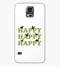 Green Digital Camo Happy Happy Happy Case/Skin for Samsung Galaxy