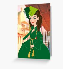 Curtain gown Scarlett Greeting Card