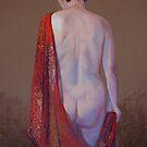 Shannon in a Red Silk Shawl by Lynda Robinson