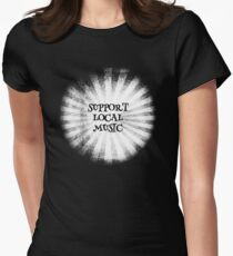 Support Local Music Inverted Womens Fitted T-Shirt