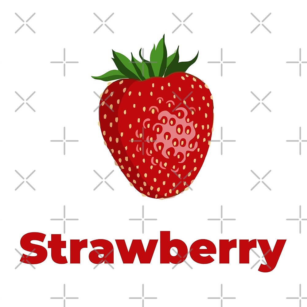Strawberry Fruit with Name by Sweevy Swag