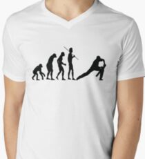 EVOLUTION TO CRICKET Men's V-Neck T-Shirt