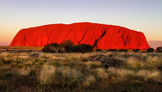 Ayers Rock Sunset by Kerrie Gerlach