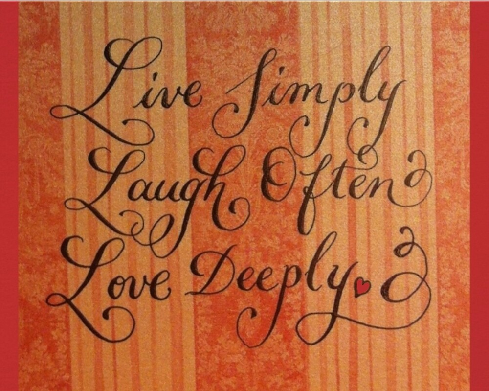 Live love laugh quote calligraphy art by Melissa Renee