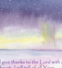Northern Lights - Psalm 9:1  Sticker