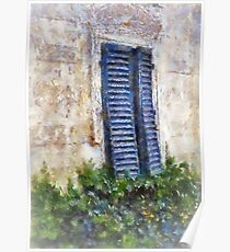 Shuttered windows, Fiesole, Italy Poster