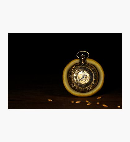 Time is a Lemon Photographic Print