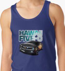 Hawaii Five-O Black Camaro (White Outline) Tank Top