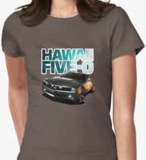 Hawaii Five-O Black Camaro (White Outline) Women's Fitted T-Shirt