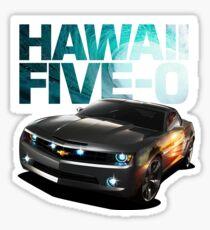 Hawaii Five-O Black Camaro (White Outline) Sticker