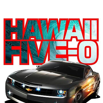 Hawaii Five-O Black Camaro (Red Outline) by fozzilized