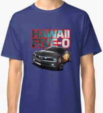 Hawaii Five-O Black Camaro (Red Outline) Classic T-Shirt
