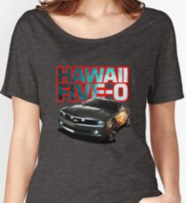 Hawaii Five-O Black Camaro (Red Outline) Women's Relaxed Fit T-Shirt