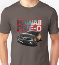 Hawaii Five-O Black Camaro (Red Outline) T-Shirt