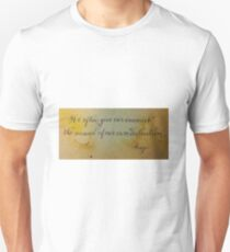 Wise quote calligraphy art Unisex T-Shirt