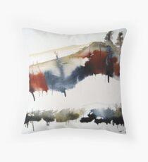 Mount Royal #3, Montreal, watercolour Throw Pillow