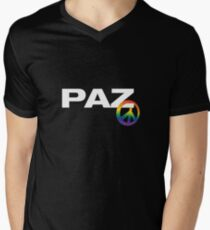 Peace T-shirt in Spanish Mens V-Neck T-Shirt