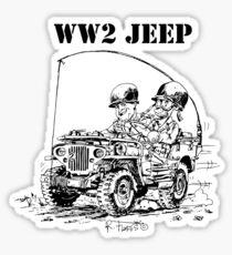 WW2 jeep Sticker