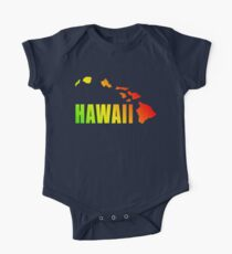 Hawaiian Islands (Vintage Distressed Design) One Piece - Short Sleeve