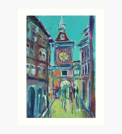 Clock Tower Arcade Art Print