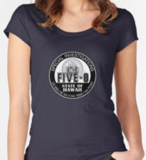 Hawaii Five-O Special Investigator Shield Women's Fitted Scoop T-Shirt