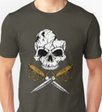 World War 1 Skull and Trench Knife Unisex T-Shirt