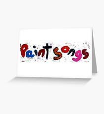 Tarjeta de felicitación paint songs