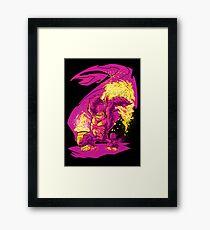 BARREL CHUCKER Framed Print