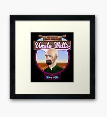 Uncle Walt's Baby Blue Meth Framed Print