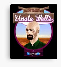 Uncle Walt's Baby Blue Meth Canvas Print