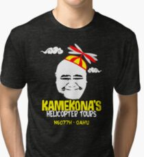 Kamekona's Helicopter Tours Tri-blend T-Shirt