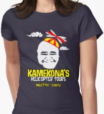 Kamekona's Helicopter Tours Womens Fitted T-Shirt