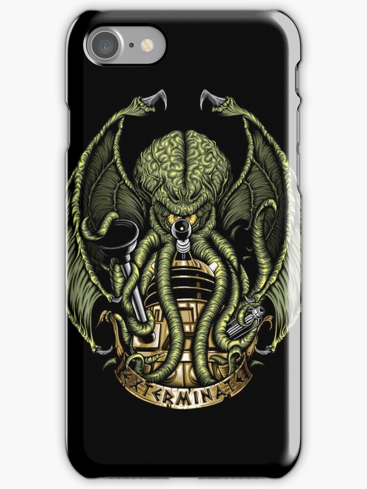 Cthulhu Exterminates - Iphone Case #2 by TrulyEpic