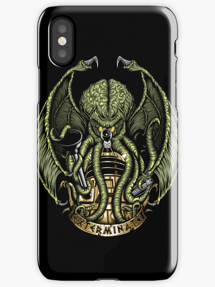 Cthulhu Exterminates - Iphone Case #2 by TrulyEpic