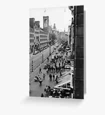Amsterdam (b/w film) Greeting Card