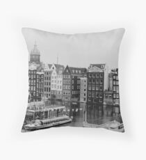 Amsterdam (b/w film) Throw Pillow