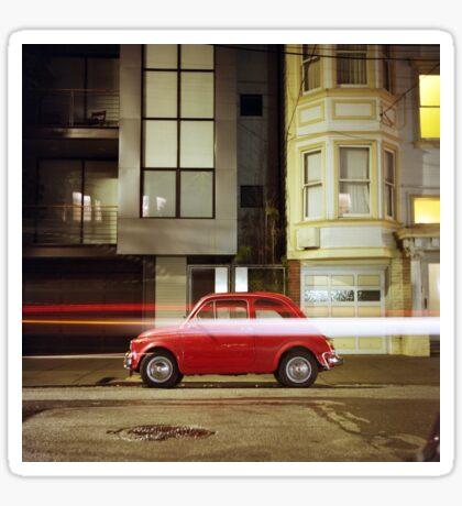 Little Red Car Sticker