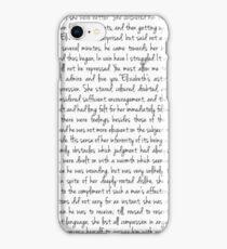 Pride and Prejudice text iPhone Case/Skin