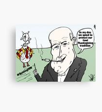 Balding FDR Thanksgiving webcomic Canvas Print
