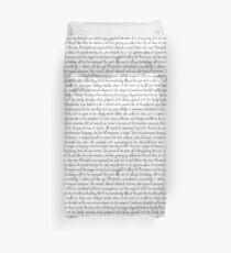 Pride and Prejudice text Duvet Cover