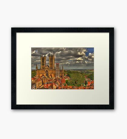 Lincoln Cathedral HDR Framed Print