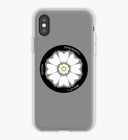 White Lotus Minimalist iPhone Case